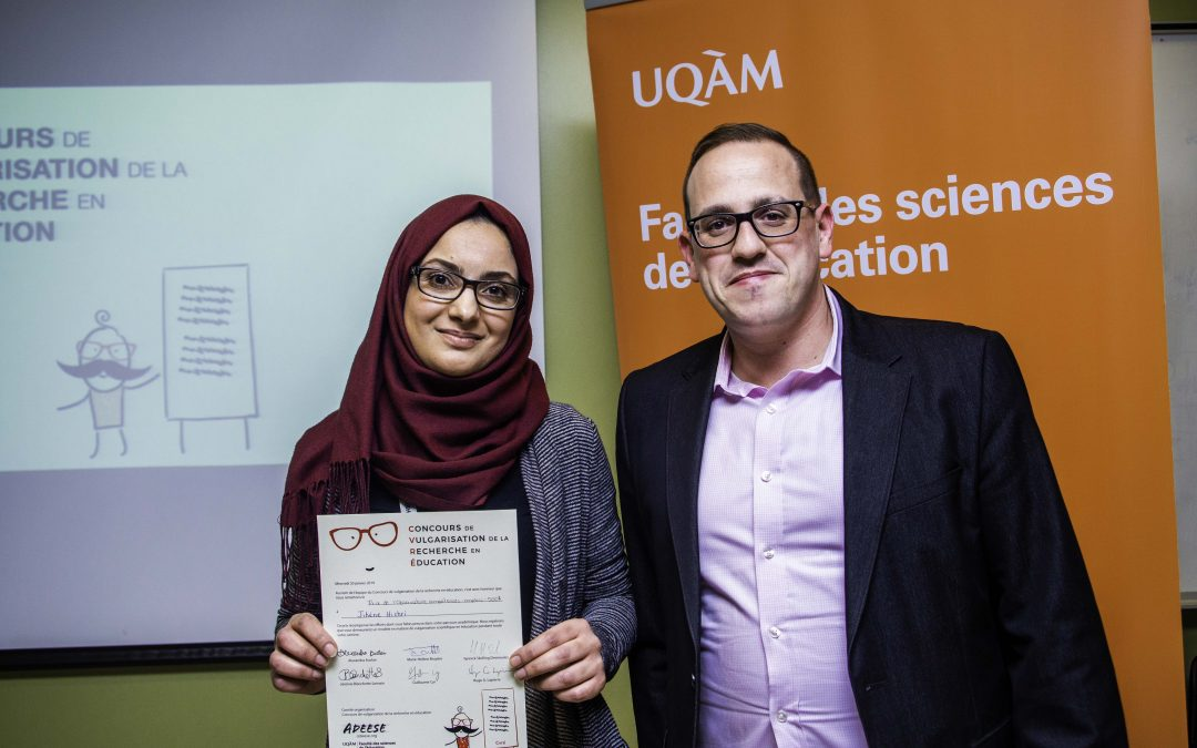 Concours de vulgarisation de la recherche en éducation – Prix OCE