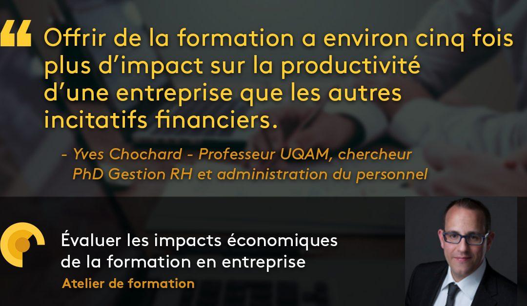 Évaluer les impacts économiques de la formation en entreprise